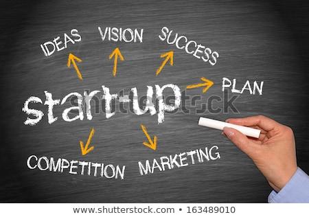 small business strategy on chalkboard stock photo © tashatuvango