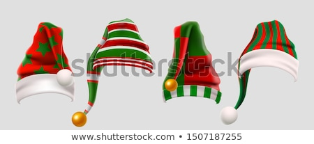 Foto stock: Winter Clothes Santa Stocking Cap