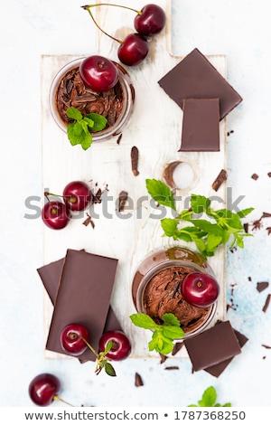 очки · Шоколадный · мусс · красный · Вишневое · стекла · фон - Сток-фото © mpessaris