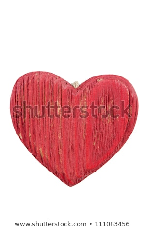 Red wooden heart Stock photo © Lana_M