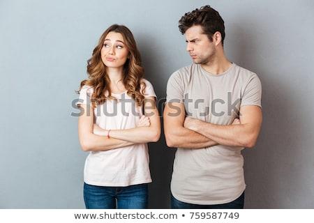 Vrouw ruzie man buitenshuis close-up probleem Stockfoto © IS2