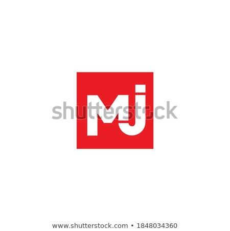 красный письме марка логотип шаблон Сток-фото © vector1st