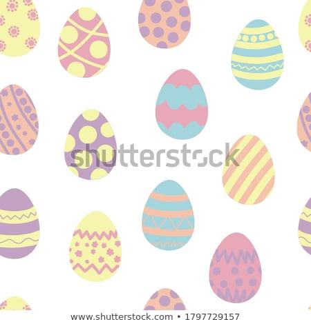 Páscoa · bonitinho · ovos · conjunto · coleção · primavera - foto stock © barbaliss