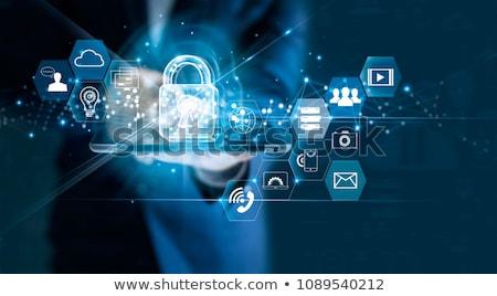 Data protection padlock icon concept Stock photo © unikpix