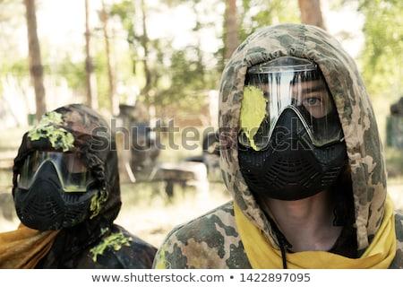 Paintball sport játékos visel maszk férfi Stock fotó © vlad_star