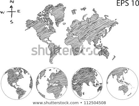 世界地図 地球 世界中 ベクトル 行 アップ ストックフォト © alexmillos