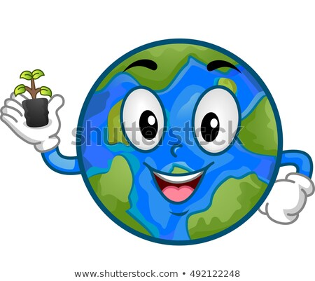 Mascot Planet Earth Seedling Stock photo © lenm