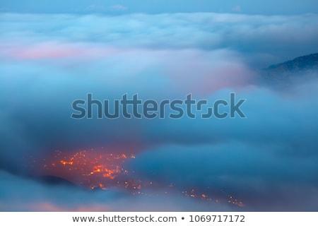 Bird's eye view on Faraya mountain Stock photo © Anna_Om