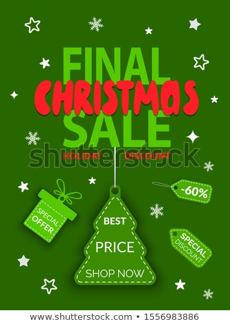 Plakat Bilder Weihnachtsbaum Verkauf farbenreich Stock foto © robuart
