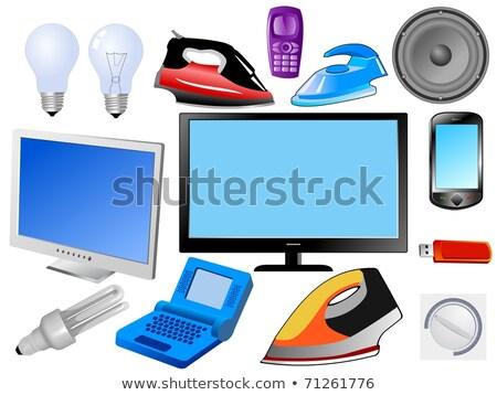 Ilustração monitor tft isolado branco filme Foto stock © smeagorl
