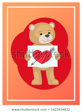 branco · vetor · coração · vermelho · rosa - foto stock © robuart