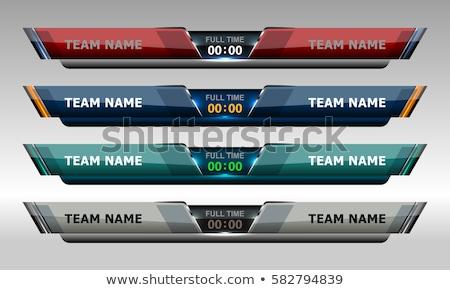 soccer tournament sports banner background Stock photo © SArts