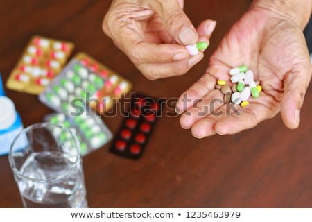 Health Medicine Pill Intake Stock photo © lenm