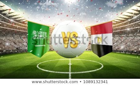 Futebol combinar Arábia Saudita vs Egito futebol Foto stock © Zerbor