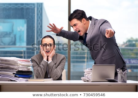 angry boss yells stock photo © rogistok