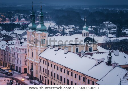 Virgin Mary Assumption Church on Main Square in Hradec Kralove Stock photo © benkrut