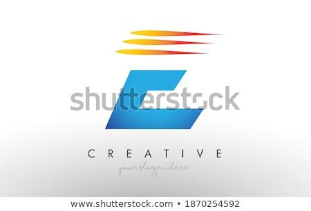 Orange Sliced Letter E Vector Illustration Stock photo © cidepix