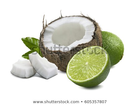 Vers kalk kokosnoot witte half heerlijk Stockfoto © dash