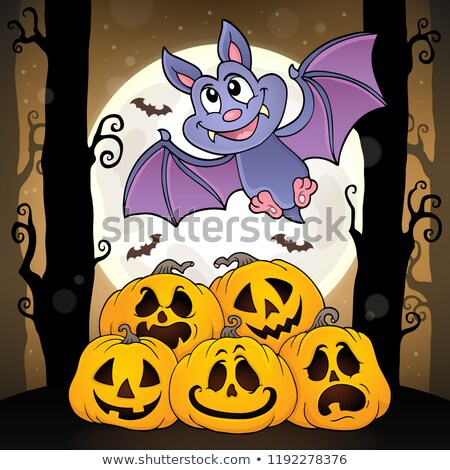 Cartoon bat topic image 4 Stock photo © clairev