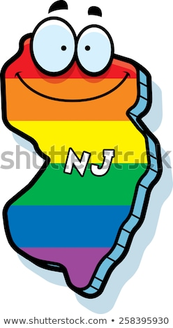 Cartoon New Jersey matrimonio gay illustrazione sorridere Rainbow Foto d'archivio © cthoman
