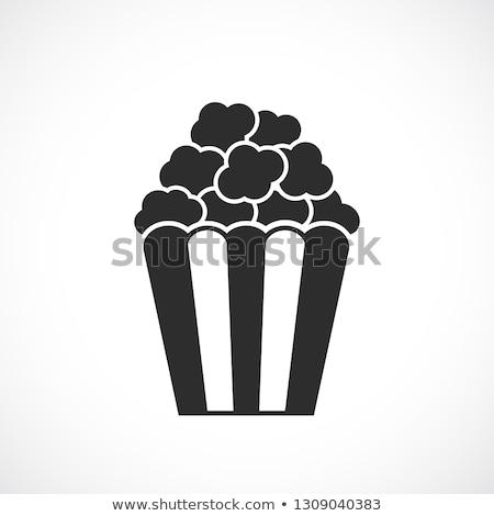 Sinema patlamış mısır ikon ince hat dizayn Stok fotoğraf © angelp