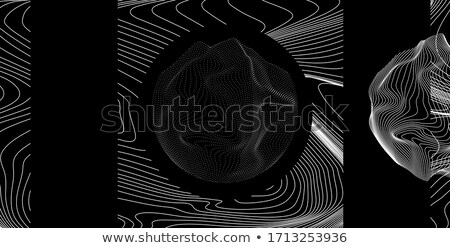 lighr 3d abstract space particles array shape stock photo © molaruso