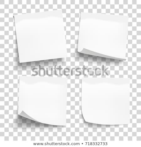 Szett fehér levélpapír izolált átlátszó cetlik Stock fotó © olehsvetiukha
