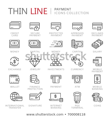 Online Wallet Icon. Thin Line Vector Illustration Stock photo © smoki