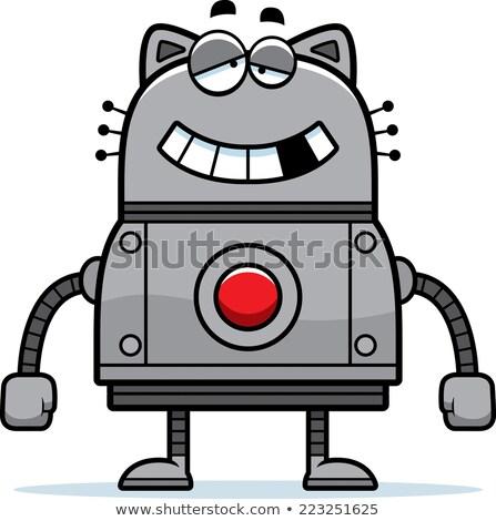 dronken · cartoon · kat · illustratie · naar · gelukkig - stockfoto © cthoman