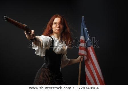 愛国的な 少女 漫画 実例 立って 笑みを浮かべて ストックフォト © cthoman