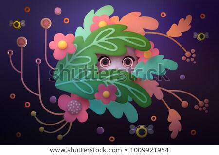 Surprised Cartoon Creature Stock photo © cthoman