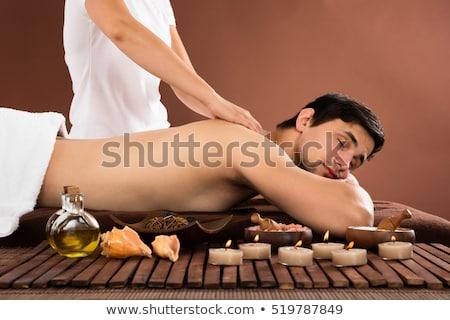 Homem ombro massagem moço Foto stock © AndreyPopov
