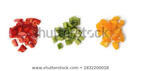 Vermelho verde amarelo sino pimentas topo Foto stock © maxsol7