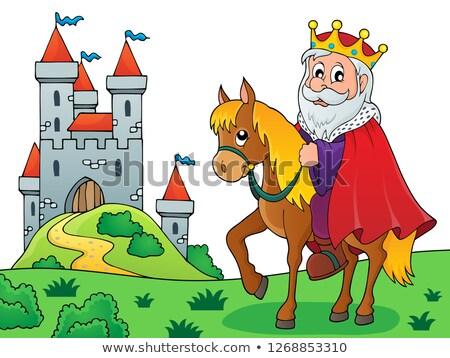 Rei cavalo imagem arte roupa coroa Foto stock © clairev