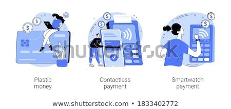 Pago usuarios compras tecnología blanco Foto stock © RAStudio