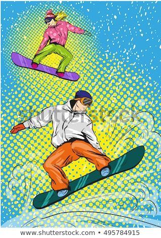 Winter extreme sports concept vector illustration. Stock photo © RAStudio