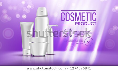 Cosmetic Bottle Banner Vector. Product Branding Design. Container, Tube. Spray, Cream. Liquid Soup,  Stock photo © pikepicture
