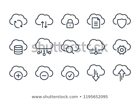 Cloud icoon teken element vector symbool ontwerp Stockfoto © blaskorizov
