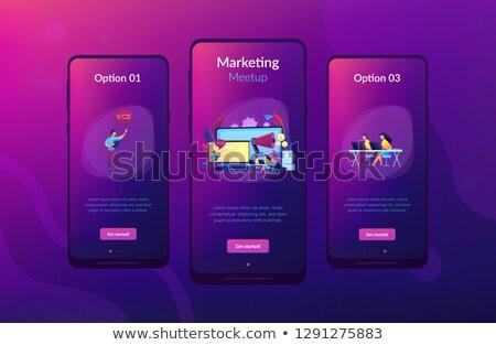 Obrotu app interfejs szablon nauki Zdjęcia stock © RAStudio