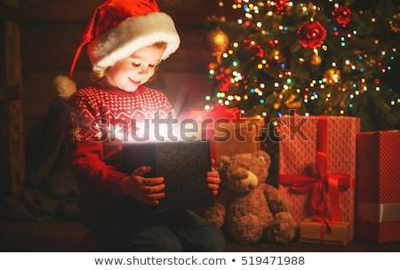 Stock fotó: Christmas Holidays Children Opening Presents