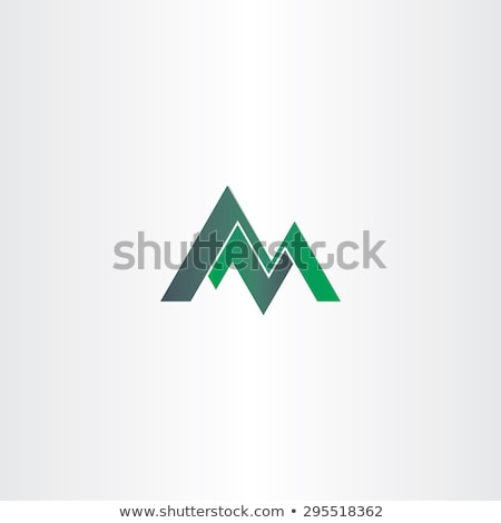 m letter green mountain icon illustration Stock photo © blaskorizov