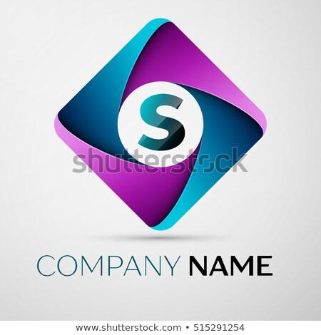 purple s logo letter circle sign symbol vector Stock photo © blaskorizov