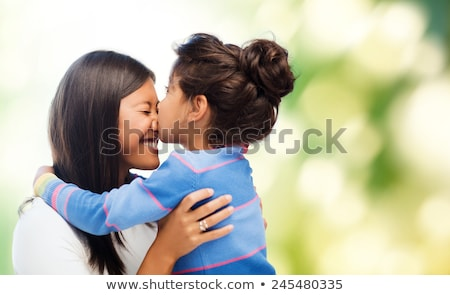 Feliz mãe filha verde família Foto stock © dolgachov
