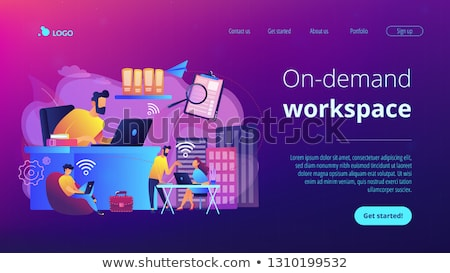 On-demand urban workspace concept landing page. Stock photo © RAStudio
