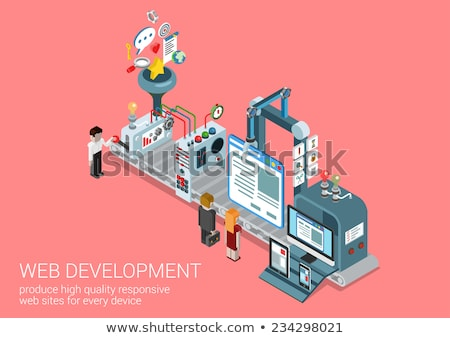 Industrial design isometric 3D concept illustration. Stock photo © RAStudio