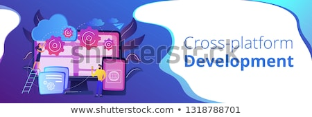 Programação bandeira programa desenvolvimento estrutura Foto stock © RAStudio