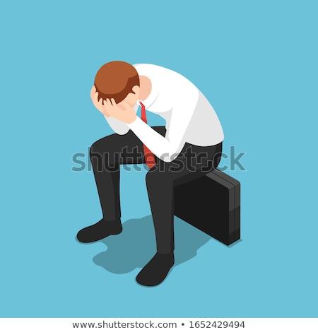 3d frustrated sad business man Stock photo © ribah