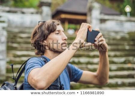 masculina · turísticos · edad · templo · goa · isla - foto stock © galitskaya