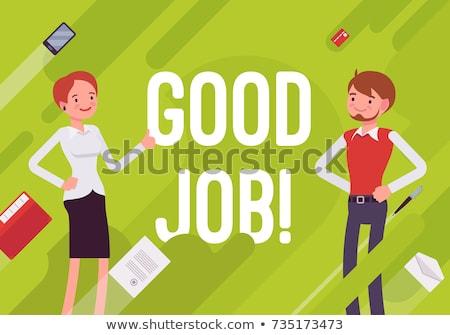 Good Job of Worker, Boss Praising Employee Poster Stock photo © robuart