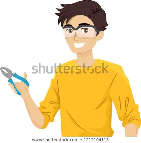 Tini fickó javítás idő illusztráció tini Stock fotó © lenm